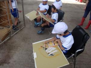 絵を描く一年生